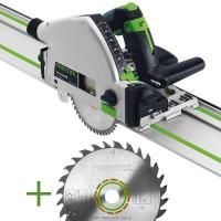 SET: Festool Tauchsäge TS 55 REBQ-Plus-FS + extra Universal-Sägeblatt W28