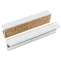 Magnet-Schutzbacken 125 mm, Aluminium mit Korkauflage