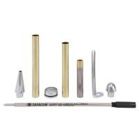 Kugelschreiber-Bausatz Manta, silber, 5 Stück
