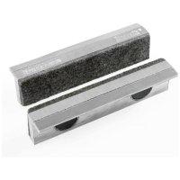 Heuer Magnefix Schutzbacken, Aluminium mit Filzauflage