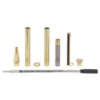 Kugelschreiber-Bausatz Paris, gold, 5 Stück