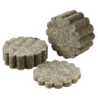 Filzconchas-Polierscheiben, Wollfilz, 12 Stück