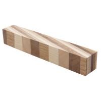 Schreibgeräte-Rohling 15°, 4 Holzarten