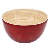 Bambus-Schüssel groß, rot