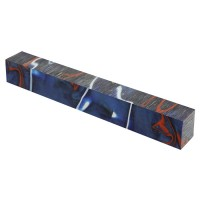 Acryl-Pen Blank, blau/rot/weiss
