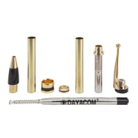 Kugelschreiber-Bausatz Phoenix, gold, 5 Stück