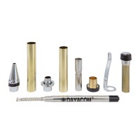 Kugelschreiber-Bausatz Pisa, silber, 5 Stück