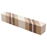 Schreibgeräte-Rohling 45°, 3 Holzarten