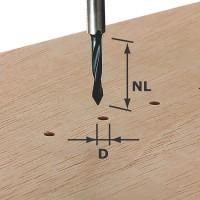 Festool Durchgangsbohrer Schaft 8 mm HW S8 D5/30