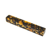 Acrylic Pen Blanks, Amber/Black