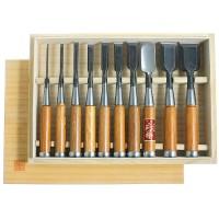 Ciseaux à bois Hattori, jeu de 10 pièces