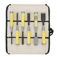 Chu-Gata Nomi, Chisel, 6-Piece Set in a Cotton Tool Roll
