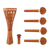 6-Piece Set Viola, Schalmei, Boxwood, White Trim, Thick