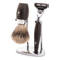 Mühle Shaving Set »Kosmo«, 3-Piece Set, Bog Oak