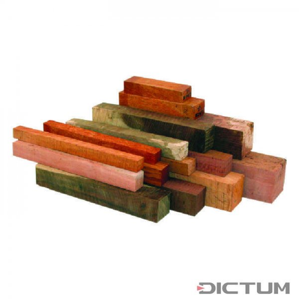 Australian Precious Wood, Square Timber Assortment, 5 kg