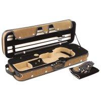 Étui-caisse Pro-Case, violon 4/4-3/4, brun/noir-beige