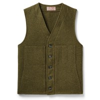 Filson Mackinaw Wool Vest, Forest Green, Size M