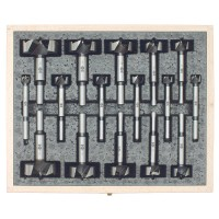 Fisch Wave-Cutter Forstner Bit Set, 16-Piece Set