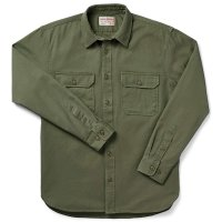 Filson 6-oz. Drill Chino Shirt, Olive, taglia M