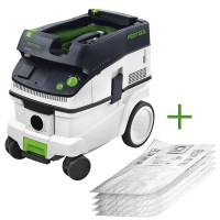 Festool Mobile Dust Extractor CLEANTEC CTM 26 E + 5 SELFCLEAN Filter Bags
