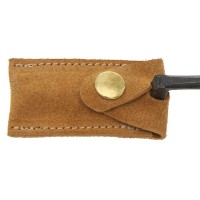 Leather Protective Cap for Cranked Paring Chisels Made of Stretchable Leather