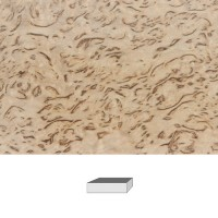"Masur Birch, Premium Quality ""Highly Figured"", 120 x 40 x 30 mm"