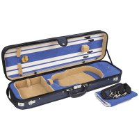 Venezia Oblong Case, Violin 4/4, Blue/Beige