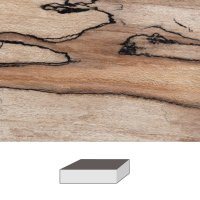 Faggio rosso Spalted, 150 x 60 x 60 mm