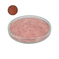 Imitation Stone for Inlay Work, Granules, Rust-red
