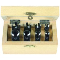 Cylindrical and Tapered Plug Cutters, 8-Piece Set