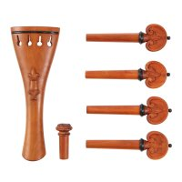 6-Piece Set Viola, Lilie, Boxwood, Black Trim, Thick