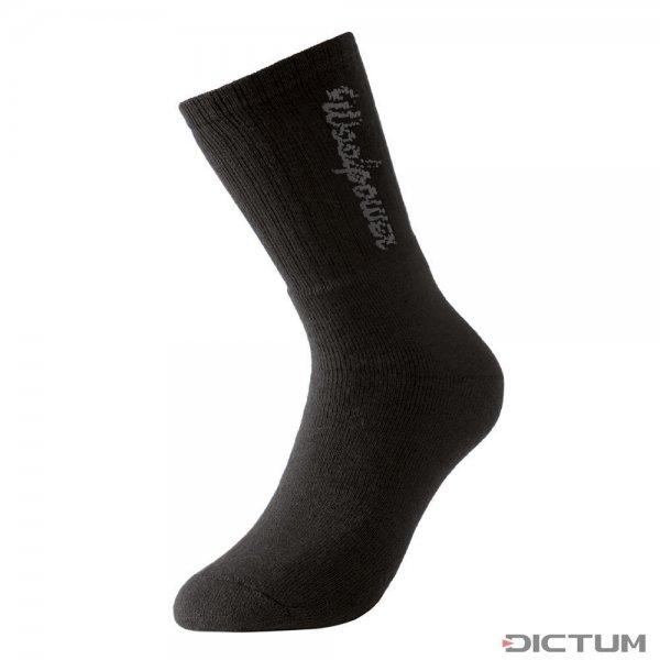 Chaussettes de sport Woolpower, logo, noires, 400 g/m², taille 36-39