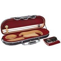 Rome Oblong Case, Violin 4/4, Black/Red-Beige