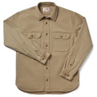 Filson 6-oz. Drill Chino Shirt, Khaki, taille L