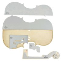 Herdim Outline Templates, 5-Piece Set, Violin, Guarneri Plowden 1735