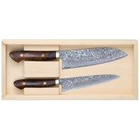 Katsuhiro Hocho, manche en bois de fer du désert, jeu, 2 pièces