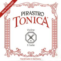 Jeu de cordes Tonica de Pirastro, violon 4/4, E nu