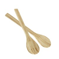 Bamboo Salad Servers Natural, Short