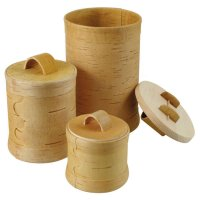 Storage Container Set, Birch Bark, 3 Pieces
