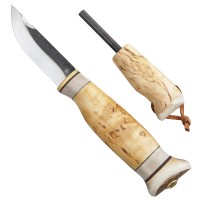 Wood Jewel Outdoor Knife with Fire Stick