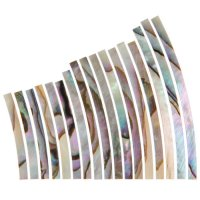 Mother of Pearl Inlay Set, Abalone Flamed, Width 1.6 mm