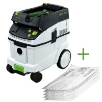 Festool Mobile Dust-extractor CLEANTEC CTM 36 E + 5 SELFCLEAN Filter Bags