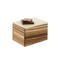Boîte à secret zebrano, érable