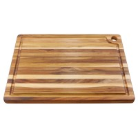 Teak Cutting Board with Juice Groove, Large