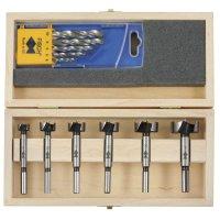 Fisch Wave-Cutter Set + Wood Twist Drills, 11-Piece Set