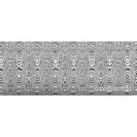Damasteel DS93X Ladder Damascus Steel, 32 x 2.5 x 210 mm