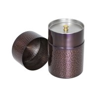 Copper Tea Caddy, Purple