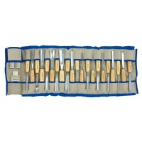 Pfeil Carver's Set with Ash Handles, 24-Piece Set, Tool Roll
