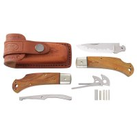 Hiro Folding Knife Kit Suminagashi, Desert Ironwood