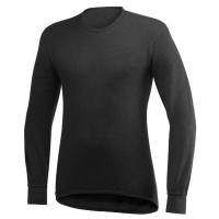 Woolpower Long-Sleeved Crewneck, Black, 200 g/m², Size XS